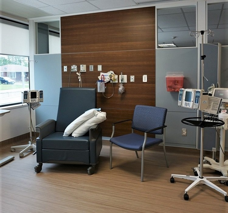 Oncology treatment area Wingham Ontario Verto360